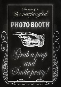 Practicing my Chalkboard skills in Photoshop - Photobooth sign