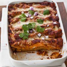 Red Chile-Chicken Enchiladas