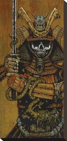 Stretched Canvas Print: Samurai Canvas Art by David Lozeau : 17x8in