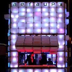 Temporary Bar by Diogo Aguiar and Teresa Otto - Dezeen, using transparent storage boxes from Ikea Ikea Storage Boxes, Ikea Boxes, Storage Containers, Trofast Ikea, Ikea Bar, Pop Up Bar, Club Design, Design Design, House Design