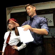 "itsajensenthing: """"J2 behind the scenes of Supernatural's 200th episode "" bonus: """