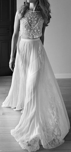 2015 Lihi Hod Wedding Dress Sweetheart Sleeveless Low Back Pearls Beading Sequins Lace Chiffon Beach Two Pieces Boho Bohemian Wedding Gowns Wedding Dress Film, Scoop Wedding Dress, Two Piece Wedding Dress, Wedding Dresses 2018, Sweetheart Wedding Dress, Bridal Dresses, Lace Wedding, Backless Wedding, Party Dresses