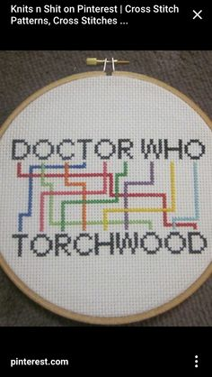 Doctor Who -- This is pretty cool, would love to find the pattern for it. - this basically is the pattern for it. Cross Stitching, Cross Stitch Embroidery, Embroidery Patterns, Geek Cross Stitch, Cross Stitch Patterns, Dr Who, Doctor Who Craft, Geek Crafts, Torchwood