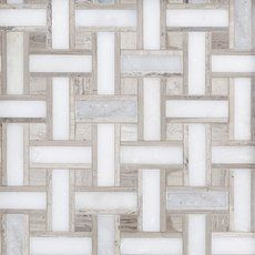 Valentino Basket Weave Polished Marble Mosaic - 13 x 13 - 100246040 Marble Mosaic Floor, Decorative Tile, Mosaic Flooring, Basket Weave Tile, Decorative Backsplash, Flooring, Mosaic, Marble Mosaic, Floor Decor