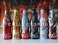 Coca Cola alu aluminum  bottle set  Hungary  2015 full or empty  6 bottles