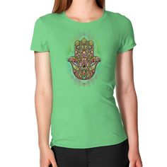 Hamsa Hand Amulet Psychedelic Women's T-Shirt