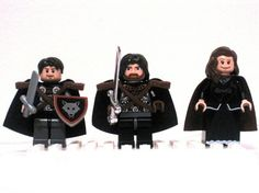 Ned, Robb e Catelyn di Lego