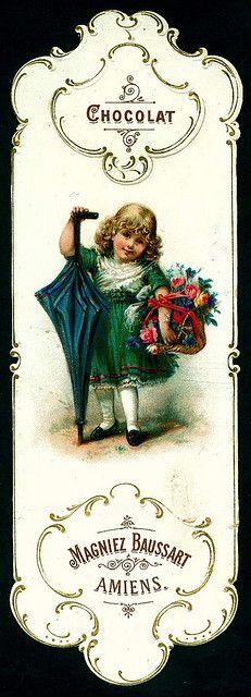 Baussart♥ Chocolat - Bookmark c1890s