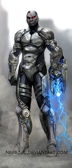 Cyborg by *nebezial on deviantART (Teen Titans / Justice League / DC Comics) Comic Book Characters, Comic Book Heroes, Comic Character, Comic Books Art, Comic Art, Comic Pics, Superhero Characters, Héros Dc Comics, Heros Comics