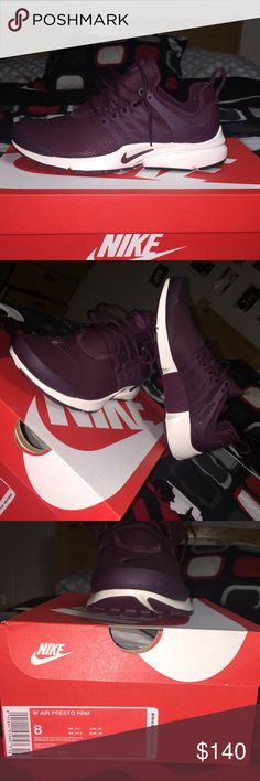 Maroon Nike Presto Brand New Women's 8 Nike Presto Nike Shoes Athletic Shoes