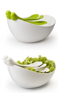 Sparrow Salad Bowl + Server