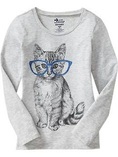 Girls Graphic Long-Sleeve Tees | Old Navy