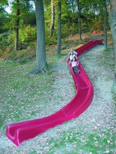 Adding this to my future plans…this will be the slide for outdoors and then we will add the slide to our indoor stairs.  Just gotta find the house with the stairway.