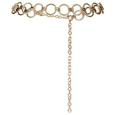 Women's Topshop Metal Link Belt (3290 DZD) ❤ liked on Polyvore featuring accessories, belts, gold, topshop, gold belts and topshop belts