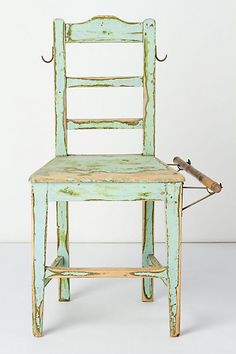 Shop designer furniture and unique furniture at Anthropologie from lush sofas to dining tables for your bedroom, living room, dining room and more. Unique Furniture, Painted Furniture, Home Furniture, Furniture Design, Turbulence Deco, Aqua, Diy Chair, Cool Chairs, Farmhouse Table