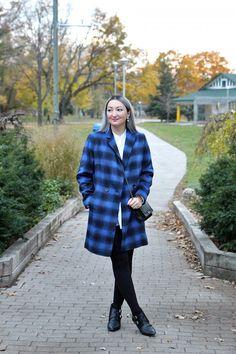 PLANET Brand Blue Plaid Coat