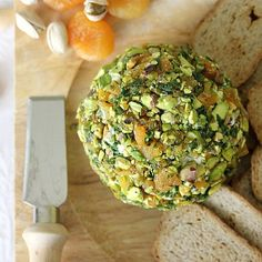 Pistachio and Apricot Cheese Ball - oh my yumminess so many of my favorite things together