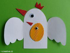 Velikonoční přání - slepička s kuřátkem | i-creative.cz - Kreativní online magazín a omalovánky k vytisknutí
