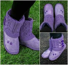 Purple paw boots
