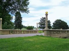 The most famous bridge on the Lincoln Highway spells out its name near Tama, Iowa.