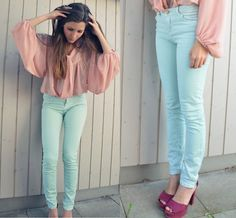 Pink & blue outfit