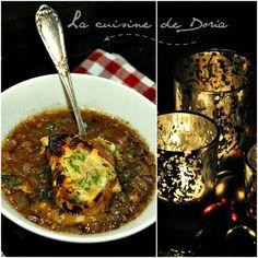 Soupe à l'oignon au chapon et vin de Cahors