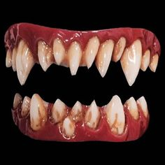 Morlock jagged, pointed costume teeth by Dental Distortionsare a new generation of F/X veneer teeth. The FX Fangs 2.0 have improved realistic look and easier