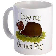 I Love my Guinea Pig Mug Pet Mug by CafePress