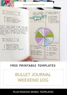 Click through to learn how to use your bullet journal weekend log to explore and prioritise your passions, plus download a free printable template. #bulletjournaling #bulletjournal #bujo #weekendlog #dailylog #bulletjournalweekendlog #passionwheel #bulletjournalideas #bulletjournaltemplate #printablebulletjournal