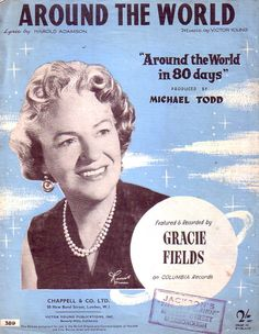Gracie Fields Around the World Sheet music for Piano & Voice 1966