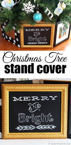 Christmas Tree Stand Cover Using Frames - In My Own Style