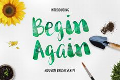 Begin Again Brush Typeface by Davendra Typeface on @creativemarket