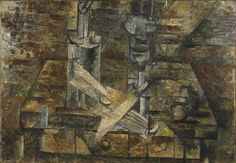 Georges Braque. The Table (Still Life with Fan). L'Estaque or Paris, fall 1910