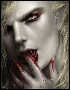 Vampire art.  The gorgeous vampire Lestat!  Can't wait to finish drawing him. …