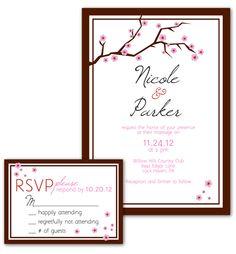 Cherry Blossom Wedding Invitation Design
