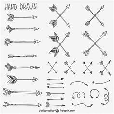 Colección flechas caligráficos