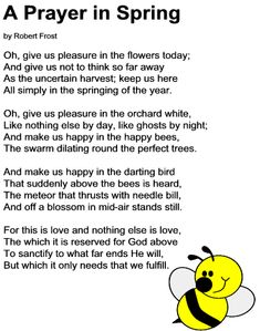 A Prayer in Spring poem by Robert Frost. wanna send this to a pen pal Spring Poem, Robert Frost Poems, Prayer Poems, Instagram Words, Short Prayers, Spring Coloring Pages, Poetry For Kids, Prayers For Children, Inspirational Poems