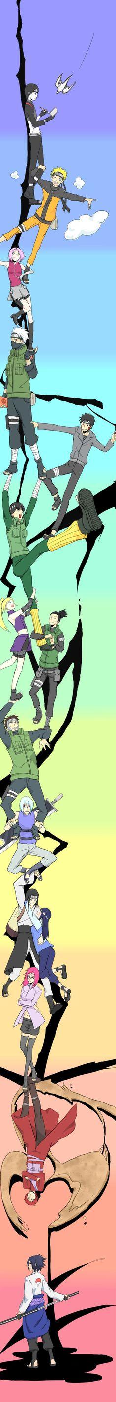 Team 7-10, Hawk and Gaara (helped Sasuke shadow version)