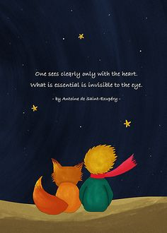 The Little Prince and Fox Looking at Starry Night by scottorz. My favorite book Petit Prince Quotes, Little Prince Quotes, The Little Prince, Great Quotes, Quotes To Live By, Me Quotes, Inspirational Quotes, Beauty Quotes, Motivational Memes