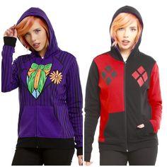 a9b7f5d10381 Reversible Joker/ Harley Quinn Hoodie Joker Costume, Joker Outfit, Joker  Clothes, Joker