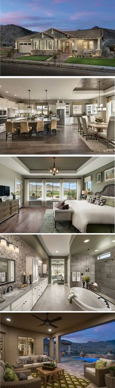 The Fruition is located in our Encore community, Victory at Verrado, in Buckeye, AZ. This open layout feels expansive and offers great views of the community Golf Course. #arizona #davidweekleyhomes #ranchstyle