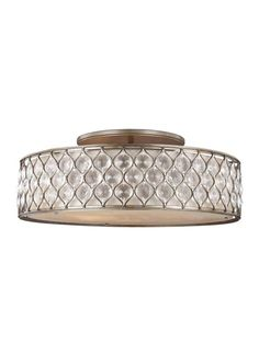 View the Murray Feiss SF329 Lucia 6 Light Semi-Flush Ceiling Fixture at LightingDirect.com.