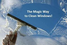 HERE'S A MAGICAL WAY TO CLEAN YOUR WINDOWS!!! This is the best way EVER to clean your windows!!! No drying is needed, and you won't have any spots or streaks on your window!