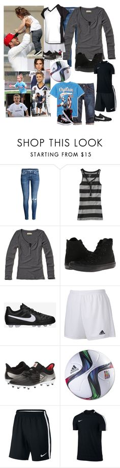 """David Beckham taking my little brother and I to play football (Soccer) with his family"" by j-j-fandoms ❤ liked on Polyvore featuring Victoria Beckham, Old Navy, Hollister Co., Converse, NIKE, DC Shoes and adidas"