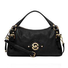 FallingInLoveWith Michael Kors Stockard Shoulder Medium Black Satchels  Fashion Styles 35bce2f9520c0