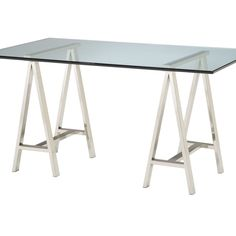 Architect's Table Base Finished In Polished Nickel. This side table features a contemporary design and comes assembled.