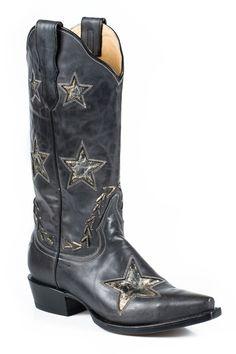 Stetson Women's Star Cowgirl Boot Snip Toe | Amazon.com