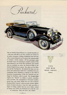 Packard ad campaign for the 1932 model year.