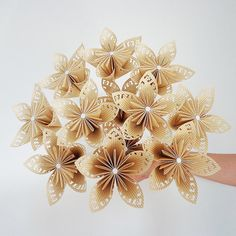 Your place to buy and sell all things handmade Paper Flowers Wedding, Origami Flowers, Felt Flowers, Diy Flowers, Diy And Crafts, Arts And Crafts, Paper Crafts, Christening Decorations, Candy Bar Wedding
