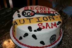 Sam's Spy Party, 6th Birthday cake (Secret Agent 006)